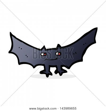 cartoon spooky vampire bat