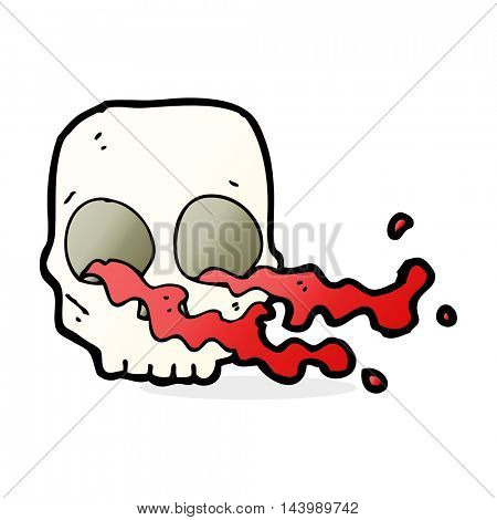 cartoon gross skull