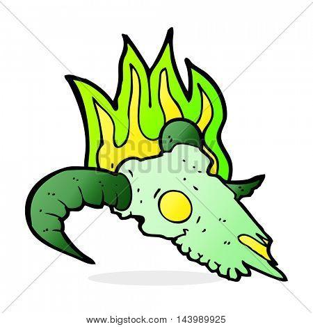 cartoon magic ram skull