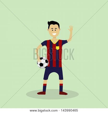 Vector Soccer Player In Club Uniform