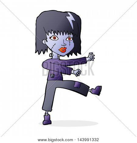 cartoon undead girl