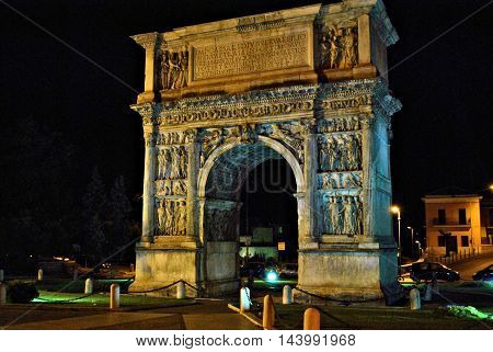 arco di benevento an architecture history figure demonstrate the greatness f the roman