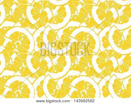 Lemon Pattern Vintage Style 2