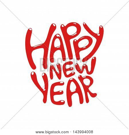 Holiday Vector Lettering, happy new year text