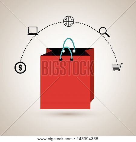 gift present buy online vector illustration eps 10