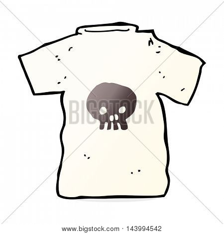 cartoon skull tee
