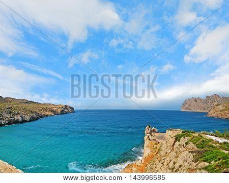Ocean mountain panorama - near Cala Sant Vicenc