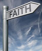 Faith Clipping Path Road Sign