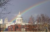 pic of atonement  - Cathedral of St Paul London UK with Rainbow  - JPG