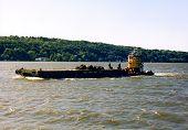 Barge On The Hudson River poster