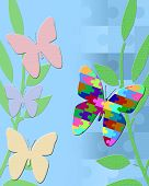 stock photo of aspergers  - Illustration of butterfly representing the autism spectrum - JPG