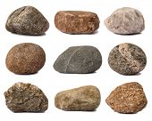 pic of rocking  - Rocks isolated on white - JPG