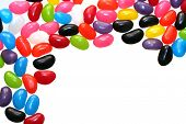 stock photo of jelly beans  - A border of colorful jelly beans - JPG