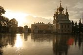 Summer Rain In Peterhof, Near Saint-Petersburg. poster