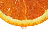 picture of orange-juice  - Drop of juice falling from blood orange - JPG