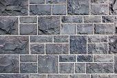 Постер, плакат: Старая стена медного купороса блоков Этот камень является общим в начале зданий в Мельбурне Австралия