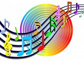 foto of musical note  - colorful music bars  - JPG