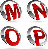 Постер, плакат: Набор письмо 3d векторные иконки такие логотипы