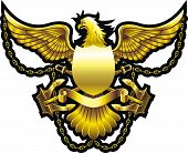 stock photo of breastplate  - NAVY style breastplate with eagle - JPG