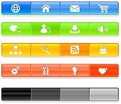 internet website navigation iconography set poster