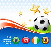 World Soccer Football Group G Original Vector Illustration