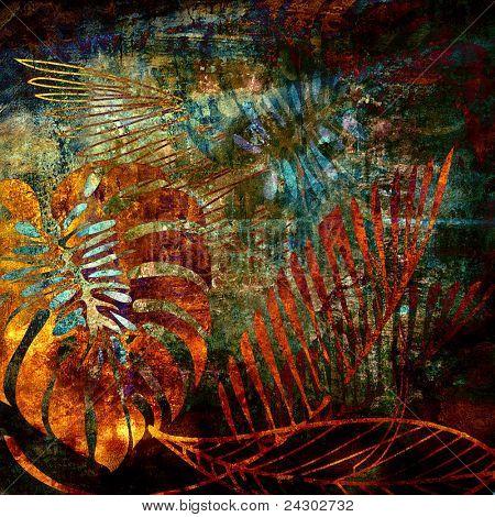 Art floral Grunge Hintergrundmuster
