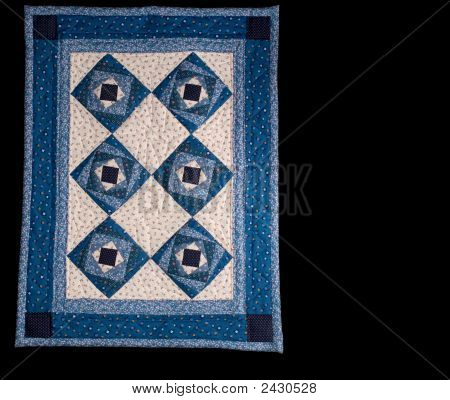 Blue Box Quilt, Black Iso.