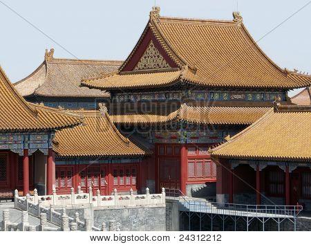 Detail Of The Forbidden City In Beijing