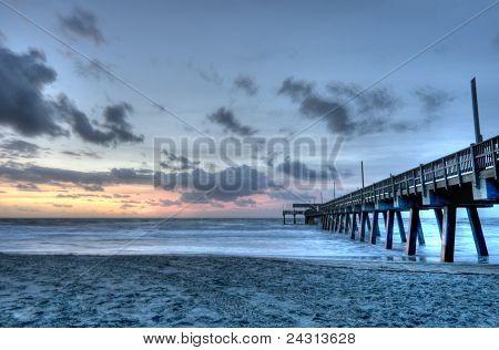 HDR of Tybee Island Beach