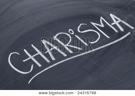 Charisma Word On Blackboard