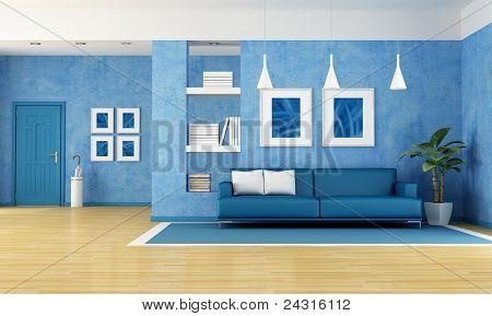 Blaue Wohnzimmer