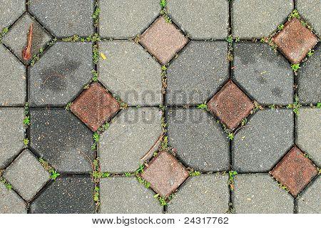 brick walk way