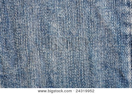 Detail of material jeans with blue color