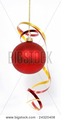 Hanging red glass ball