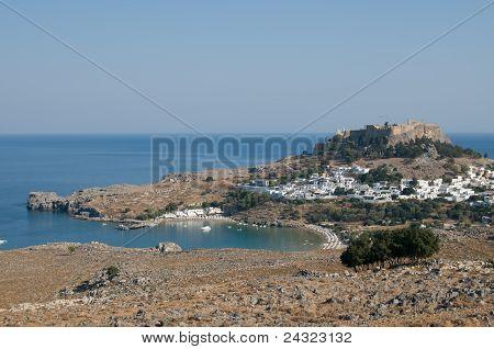 Lindos city view