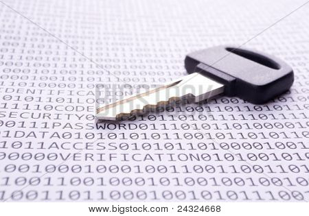 Key is on the list with a binary code