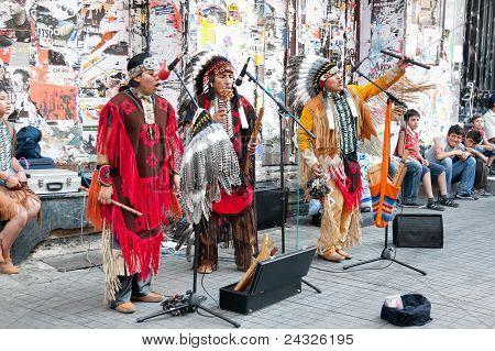 Amerindians perform live