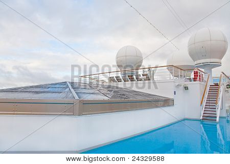 Upper Deck Of Cruise Liner
