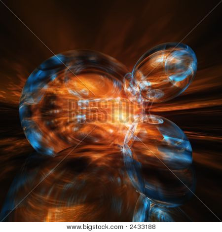 Abstract Sun Blast Horizon Background