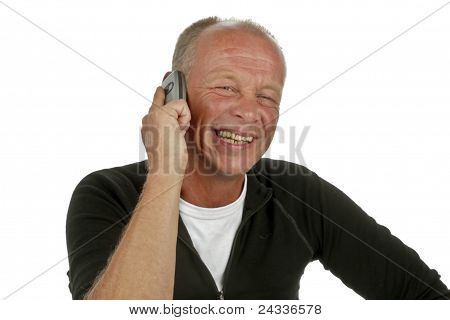 Laughing man on the phone