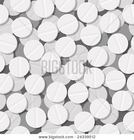 white tablet, pill seamless