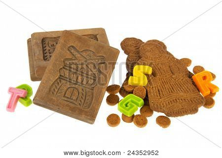 Traditional Dutch Sinterklaas speculaas and pepernoten