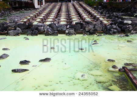 Kusatsu hot spring in Japan