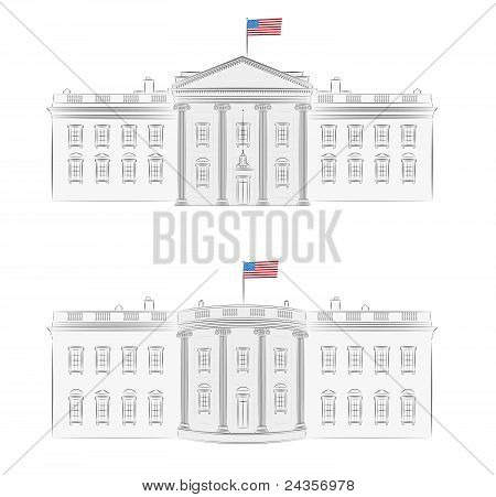 White House detailed vector illustration