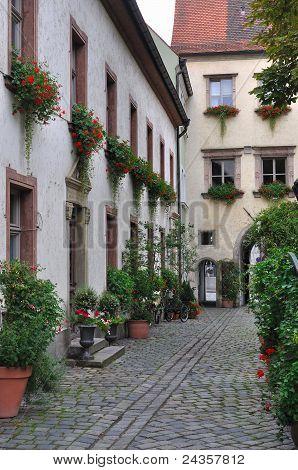 bishofhof courtyard, regensburg