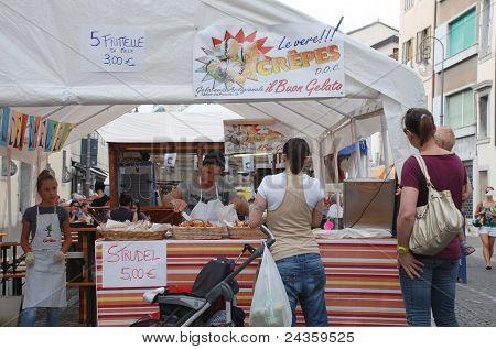 Strudel Stall At Friuli Doc