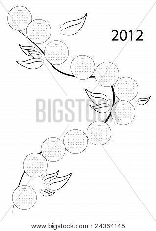 Calendar tree for 2012