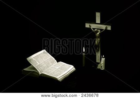 Mothers Cross And Bible
