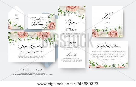 Wedding Floral Save The Date