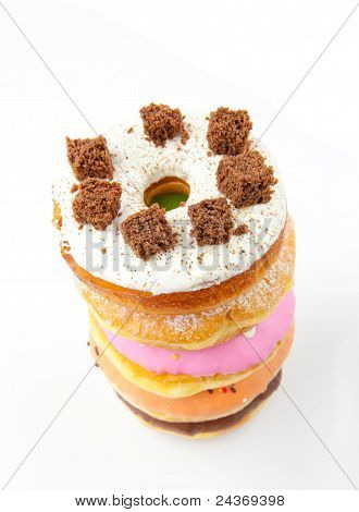 A Stack Of Donuts